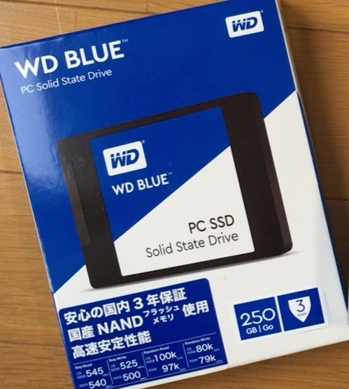 SSD「WD250G1B0A」