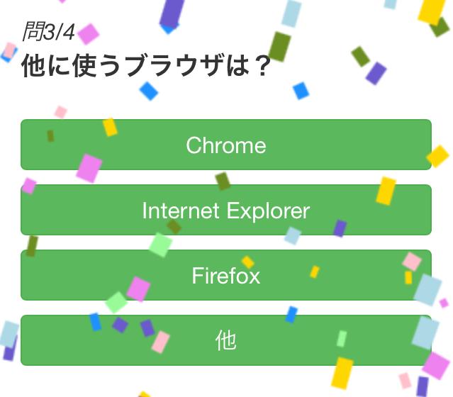 ビジターアンケート「親愛な Safari ユーザー様」問3/4 他に使うブラウザは?