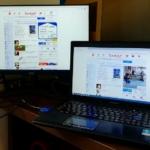 マルチディスプレイに在宅勤務環境を改善